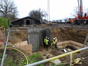 Building the fuel silo